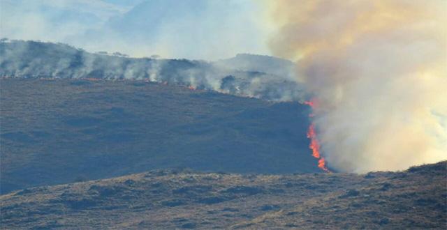 Incendio en las sierras